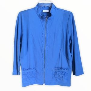 WEEKENDS BY CHICO'S Light blue jacket SZ 1